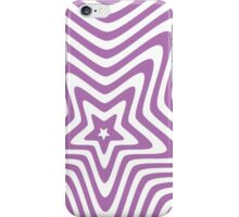purple and white star illusion background iPhone Case/Skin
