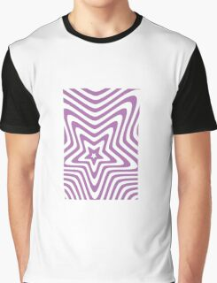 purple and white star illusion background Graphic T-Shirt