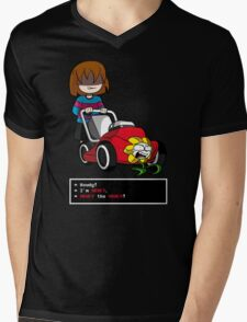 Undertale Frisk and Flowey Mens V-Neck T-Shirt