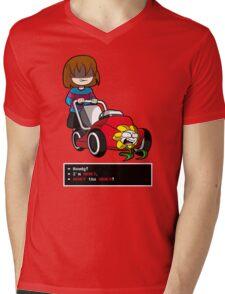 Undertale Frisk and Flowey Mens V-Neck T-Shirt