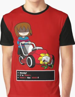 Undertale Frisk and Flowey Graphic T-Shirt