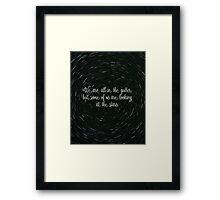Oscar Wilde - We are all in the Gutter. Framed Print