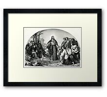 Christ's sermon on the mount - The parable of the lily - 1866 - Currier & Ives Framed Print