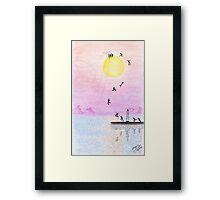 gone fishing in the sun Framed Print