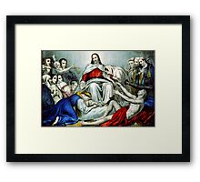 Christus consolator - 1856 - Currier & Ives Framed Print