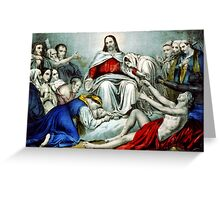 Christus consolator - 1856 - Currier & Ives Greeting Card