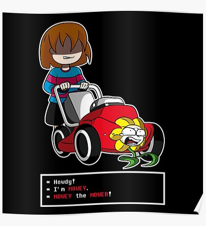 Undertale Frisk and Flowey Poster