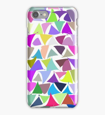 shuffled colorful triangle pattern background iPhone Case/Skin