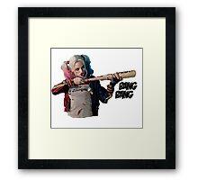 Harley Quinn BANG BANG Framed Print