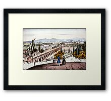 City of Mexico. From the convent of San Cosme - 1847  Framed Print