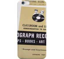 1967 EDUCATIONAL RECORDS/FILMSTRIPS CATALOG FRONT iPhone Case/Skin