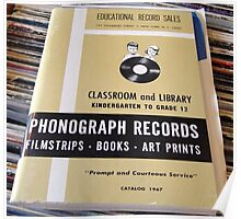 1967 EDUCATIONAL RECORDS/FILMSTRIPS CATALOG FRONT Poster