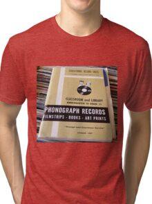 1967 EDUCATIONAL RECORDS/FILMSTRIPS CATALOG FRONT Tri-blend T-Shirt