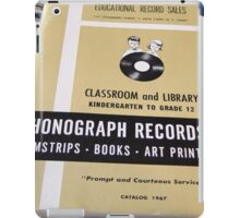 1967 EDUCATIONAL RECORDS/FILMSTRIPS CATALOG FRONT iPad Case/Skin