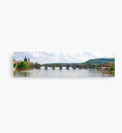 Czech Republic - Charles Bridge at Prague Canvas Print