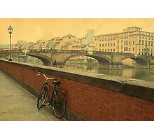 Old bridge in Florence, Italy Photographic Print