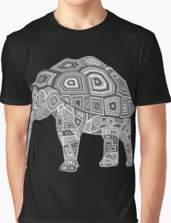 Elephant Turtle Graphic T-Shirt