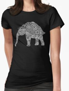 Elephant Turtle Womens Fitted T-Shirt