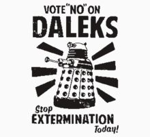 Vote NO On Daleks Kids Clothes