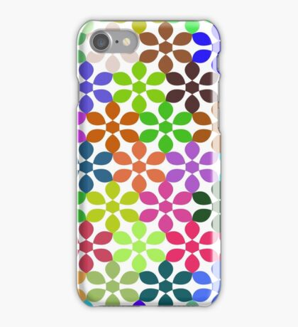 colorful floral pattern background iPhone Case/Skin