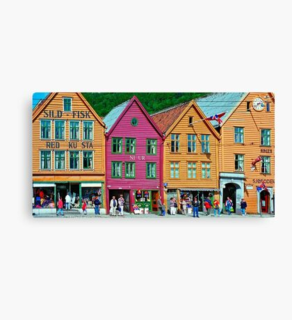 Norway - Bryggen at Bergen Canvas Print