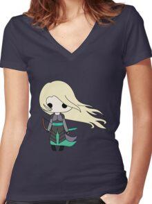 Heir of Fire Chibi Women's Fitted V-Neck T-Shirt