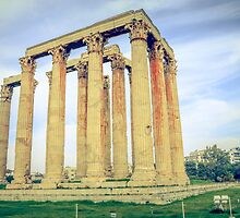 ruins of ancient temple of Zeus, Athens, Greece by elgreko