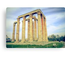ruins of ancient temple of Zeus, Athens, Greece Canvas Print