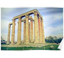 ruins of ancient temple of Zeus, Athens, Greece Poster