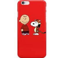 calvin and hobbes meets peanuts iPhone Case/Skin