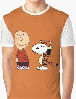 calvin and hobbes meets peanuts Graphic T-Shirt