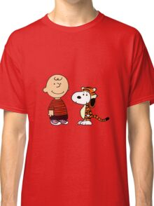 calvin and hobbes meets peanuts Classic T-Shirt