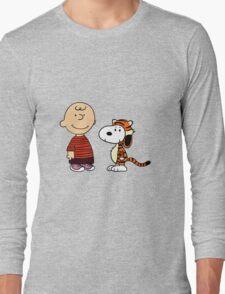 calvin and hobbes meets peanuts Long Sleeve T-Shirt
