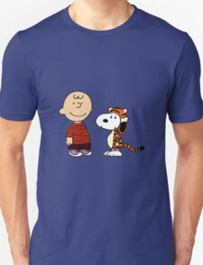 calvin and hobbes meets peanuts Unisex T-Shirt
