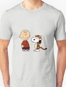 calvin and hobbes meets peanuts Unisex T-Shirt