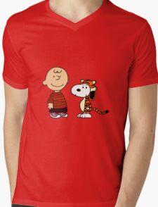 calvin and hobbes meets peanuts Mens V-Neck T-Shirt
