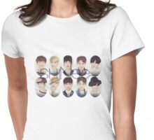 Shinee group oval Womens Fitted T-Shirt