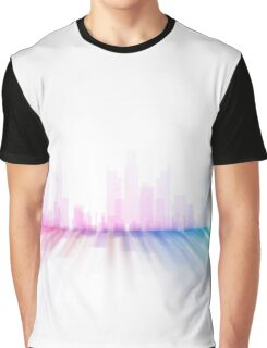abstract cityscape illustration - city skyline 7  Graphic T-Shirt