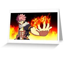 Fairy Tail - Natsu Dragneel Fire Greeting Card