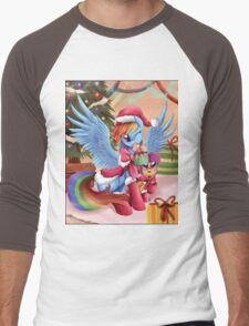 Rainbow Dash Christmas Men's Baseball ¾ T-Shirt