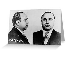 Al Capone Mugshot at the CPD (June 17th 1931) Greeting Card