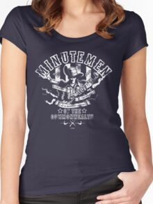 Minutemen Of The Commonwealth - negative colors Women's Fitted Scoop T-Shirt