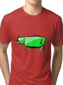 green pig Tri-blend T-Shirt
