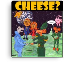 Moon Rats Present Cheese Canvas Print