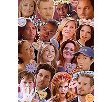 Grey's Anatomy Character Collage Photographic Print