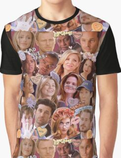 Grey's Anatomy Character Collage Graphic T-Shirt