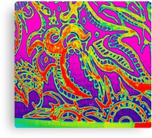 Psych Abstract Sketch  Canvas Print