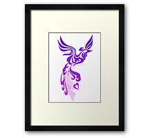 Purple Phoenix Framed Print
