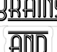 Balls Brains and Beauty Sticker