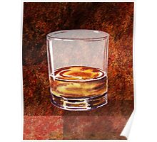 Whiskey Glass Poster